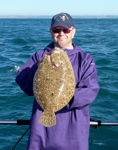 Clive was on fire in Weymouth (not literally, sadly), catching turbot and brill like this one, while the rest of us could only look on and marvel