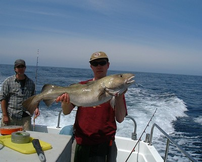 Philip shows off a nice double-figure cod